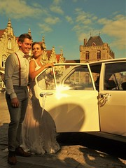 Wedding in the Alfetta (stijnbulckaen) Tags: wedding marriage alfa romeo alfetta veurne huwelijk