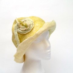 (LucAndLex) Tags: wool hat yellow warm handmade unique ooak funky felt merino apresski wearableart fiberart greenish ecofriendly felthat croatianwool