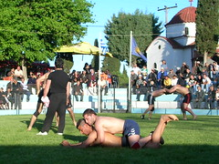 Wrestling infront the church of Saint Thomas (d.mavro) Tags: shirtless beautiful leather sport greek big fighter nipples body masculine muscle muscular wrestling chest traditional butt north handsome hunk sensual arena greece strong torso wrestler biceps hombre hommes turk homme bulge serres jeune grecoroman muchacho pehlivan yal gre athlet nigrita