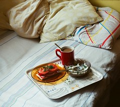 (lady_of_theflowers) Tags: food film coffee breakfast analog sunny ishootfilm zenit bb goodmorning analogphotography breakfastinbed haveaniceday