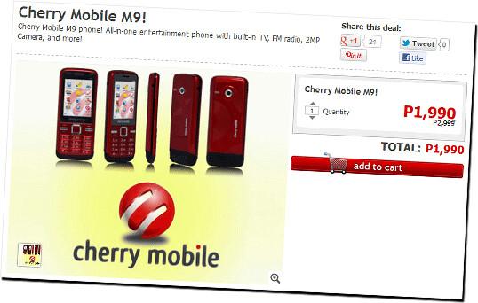 Cherry Mobile M9 on CashCashPinoy