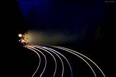 First Light (Images by A.J.) Tags: railroad night train tren spring pittsburgh pennsylvania ns norfolk rail railway trains southern pa headlight bahn treno freight chemin trein ferrocarril  ferroviario   ferroviaire