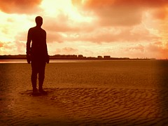 a gromley crosby beach (thecrookedfoo) Tags: beach home water liverpool sand ironman gormley crosby flickrandroidapp:filter=berlin