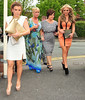Coleen Rooney with her mother Colette McLoughlin and guests Ladies Day at Chester Racecourse Cheshire, England