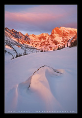 Spring yet? (Koveh Photography) Tags: lake snow rock colorado co alpenglow indianpeakswilderness lakeisabelle