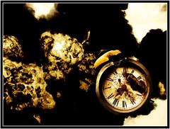 Bomb Shrapnel Stops Time (gray5627) Tags: clock museum time bomb stops shrapnel hartlepool