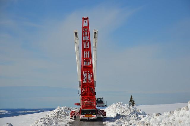 Nordex wind turbines Pre-erection in Blaiken Sweden