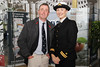 From left:Captain Colm Newport and Lt Elizabeth Barrett (INS) pictured at the launch of The Tall Ship Races 2012
