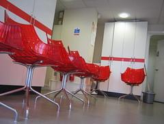 139/366 - Waiting room (Spannarama) Tags: uk london bucket chairs may dentist mop waitingroom 2012 redchairs 366