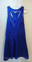 Vestido plissado azul (Francine Lacerda Criações Têxteis) Tags: azul vestido regata recortar cetim flct