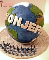 Globe Cake (iCANDY Baked Goods) Tags: cake globe goods baked icandy