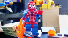 The Spectacular Spider-man (chrisofpie) Tags: project star spider spiderman peterparker super adventure legos superhero minifig swinging avengers minifigure avenger minifigures suitup legohero thespectacularspiderman legomarvel livingontheedgefightingcrimespinningwebs