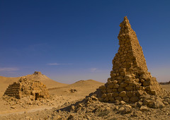Eggelin Tomb Tower In The Ancient Roman city of Palmyra, Syria (Eric Lafforgue) Tags: color colour history archaeology monument horizontal architecture outdoors photography sand ancient ruins day desert roman religion tomb middleeast nopeople unescoworldheritagesite unesco funeral syria ancientcivilization palmyra thepast palmira necropolis siria traditionalculture 380 levant syrien syrie sirja tadmor traveldestinations colorimage famousplace suriye   syri oldruin unescoworldheritagelist internationallandmark extremeterrain aridclimate mediterraneanculture  sria szria builtstructure  syrianculture westernasia placeofburial architectureandart   middleeasternculture  suriah sirija  cp  sora