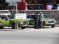 Unusual green Grand Taxis in Aoulouz (Tim R-T-C) Tags: africa holiday mercedes northafrica taxi atlasmountains morocco atlas opel grandtaxi aoulouz keadventure peaksandvalleysofjebelsirwa