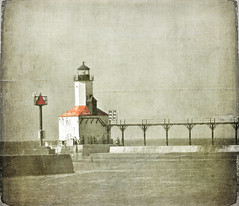 Michigan City Lighthouse (Danica (Mariella Tammas)) Tags: lighthouse texture pier michigancity thegalaxy magicunicornverybest mygearandme mygearandmepremium mygearandmebronze mygearandmesilver rememberthatmomentlevel4 rememberthatmomentlevel1 rememberthatmomentlevel2 rememberthatmomentlevel3 rememberthatmomentlevel7 rememberthatmomentlevel5 rememberthatmomentlevel6