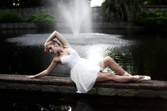 Elegance (Danielle Pearce) Tags: ballet white black water girl waterfall dance swan ballerina pointe