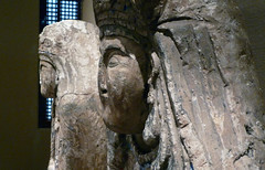 Two Royal Figures, Detail with Faces in Profile