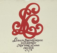 Lubalin, Smith, Carnase Inc. monogram logo. 1967 (Herb Lubalin Study Center) Tags: lubalin herblubalin
