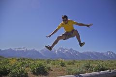 Jon jumps Grand Teton (Jonathan Zurick) Tags: park trip vacation canon eos hole grand jackson national journey wyoming teton grandteton wy grandtetonnationalpark 50d canon50d petapixel petapixelcom