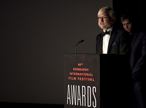 Chris Fujiwara at the 2012 EIFF Awards ceremony at the Filmhouse