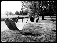 Swing set (~Bella189) Tags: white black kids blackwhite play swings olympus matchpointwinner friendlychallenges beginnerdigitalphotographychallengewinner thechallengefactory yourock2nd agcgsweepwinner olympustg820 mpt204