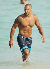 Shemar Moore Shirtless on Beach