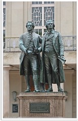 Weimar/Germany - Goethe-Schiller-Denkmal