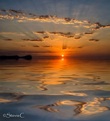 Ibiza Dreams (StevieC-Photography) Tags: sea sky cloud sun sunlight seascape reflection nature rock vertical sunrise outdoors island photography spain nopeople dramaticsky scenics tranquilscene beautyinnature breakingdawn colourimage steviec ibizaisland ibizasunrise ibizadreams