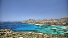 DSC_8724_ENH (dsfox) Tags: blue sea summer mountain mountains color beach nature water landscape island greek coast cyan ridge greece crete 16mm cretan balos d700