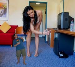 iggy 1 - IMG_1939 (iggy62pop2) Tags: woman hotel hands funny legs dominate kristina nails spanking shrinking tallwoman shrinkingman minigiantess shinkingman