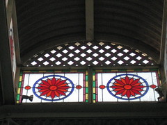 Victorian Stained Glass in a Skylight  Sturt Street, Ballarat (raaen99) Tags: city blue light red flower detail building green window yellow shop architecture flora iron pattern purple architecturaldetail 19thcentury 1800s decoration victorian skylight australia stainedglass victoria shade victoriana shopwindow verandah pane windowdetail stainedglasswindow lattice feature ballarat goldrush corrugatediron nineteenthcentury 1890s lightwell 1880s countryvictoria lightandshade stylised rippledglass sturtstreet sturtst architecturalfeature victorianstainedglass goldrushera provincialvictoria victorianstainedglasswindow