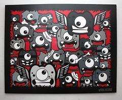 Project Y - 19 (Jepeinsdesaliens) Tags: red black art lines illustration rouge graffiti design sketch noir drawing dessin characters posca poscapens poscaart poscadesign