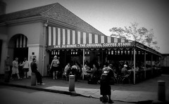 Cafe' Dumonde (the_dude771) Tags: ocean street new city trees light sky food moon house signs galveston brick water coffee caf grave car sign marie night train french dead mexico dessert louis pier corn orleans louisiana ship texas gulf cross shot cathedral market buried south tomb arc deep joan quarter wreck bourbon dumonde chicory pleasure laveau beignets