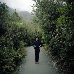 (*YIP*) Tags: travel family newzealand holiday plant green 120 6x6 film nature mediumformat square outdoors photography rainforest day kodak brother franzjosefglacier epson kiev footpath absence tranquilscene kiev60 yip iso160 v500 beautyinnature southislandnewzealand lushfoliage yipchoonhong newzealandswestcoastglaciers