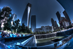 NEW YORK (koczkodan) Tags: new york travel sky people cloud sun toronto ontario canada color reflection tree nature water horizontal standing outdoors photography day image no scene images structure getty mississauga tranquil hdr built scenics distant destinations mloszowa