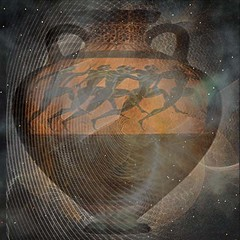 The Olympics Across Time and Space (garlandcannon) Tags: irish amphora runners olympics london2012 timeandspace flamingpear celticgames glitterato panathenaicamphora tailteanngames greekrunners