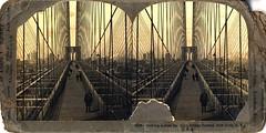 Looking across Brooklyn Bridge to New York, N.Y. circa 1903 (Aussie~mobs) Tags: nyc bridge newyork vintage brooklynbridge eastriver stereoview