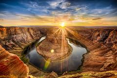 Horshoe Sunset (reflectedpixel) Tags: sunset arizona landscape sandstone horseshoebend