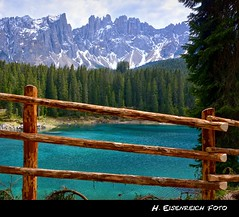 HFF Lago di Carezza (H. Eisenreich Foto) Tags: trees italy lake mountains alps fence lago prime see photo ic nikon south hans award berge di alpen zaun alto alpi bume tyrol dolomites dolomiti 2012 sdtirol carezza adige dolomiten karersee trkis hff welschnofen flickraward eisenreich eijomian