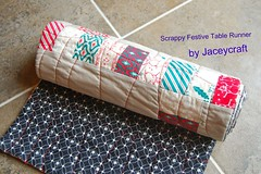 Scrappy Festive Table Runner (jaceycraft) Tags: christmas holidays tutorial scrappy tablerunner sewmamasew jaceycraft