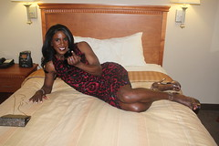 """""""Come Hither"""" (darlene362538) Tags: sexy beautiful pretty legs transgender transvestite africanamerican crossdress transsexual"""