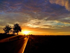 Morning road (Tobi_2008) Tags: sonnenaufgang sunrise himmel sky ciel bume trees wolken clouds landschaft landscape natur nature sachsen saxony deutschland germany allemagne germania platinumheartaward