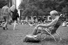 A summer day in NYC (kogh65) Tags: new york photography photo travel art 2016 nyc ny street black white leica m mono tone city outdoor life people depth field reportage young kogh candid camera focus pov picture 50mm image manhattan artist kogh65 girl sun park hot tanning bw bryant public sunny blackandwhite monochrome
