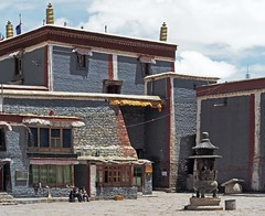 Sakya Monastery 11 (joeng) Tags: tibet china sakya temple building sakyamonastery landscape monastery people places prayerflag