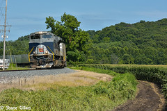 NS 255 with the Wabash leading. (Machme92) Tags: ns norfolksouthern norfolk trains transcon trainrace railroad railfanning railroads railfans rails rail row railroading railfan emd sd70ace southern heritage heritageunits