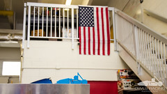 20160825-DSC_1491 (owlsracing) Tags: americanflag fau owlsracing bluecar day inside shop wallpaper
