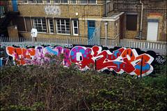Teach / Oker (Alex Ellison) Tags: teach dds oker westlondon urban graffiti graff boobs trackside
