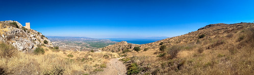 Panorama from Acrocorinth to Gulf of Corinth