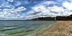 Heading Into The Ocean (jamesromanl17) Tags: sky landscape water beach clouds cloudscape cloudy coast coastline ocean sand panorama landscapes cloud panoramic skies coastal