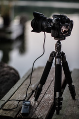 Setting up a Timelapes (Jovan Jimenez) Tags: slik sprint mini ii gm 4section tripod canon 70d tokina 1116mm vello shutterboss intervalometer eos atx 116 pro dx bokeh gear equipment camera lens tools edgerton wisconsin lake ballhead